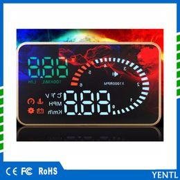$enCountryForm.capitalKeyWord Australia - 3.5 inch car OBD II HUD Head Up Display Auto Window Reflective Screen Speed Fatigue Warning HUD projector universal digital display