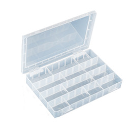203-132H Multi-purpose Case Plastic Box Shockproof Component Storage Box PP Material With 40 Squares 252x182x40.5mm from aluminum box enclosures project manufacturers