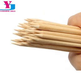 China ticks cuticle 20pcs lot High Quality Wood Stick For Nail Art Brand Orange Wooden Sticks Cuticle Pusher Pedicure Manicure Beauty Sticker T... cheap wooden sticks suppliers