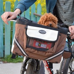Dog Cars Australia - New Creative Portable Kitty Puppy Cycle Single Car Bag Poodle Seat Package Outdoor Small Dog Carrier Travel Bicycle Basket 75ac aa