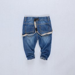 $enCountryForm.capitalKeyWord Australia - High quality fashion baby boys girls children jeans cowboy pants boy's suspender trousers kids overalls girls tirantes