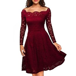 9dea4c28d83 Mchoice Sexy Women Vogue Lace Dress Bodycorn Casual Summer Long Dresses Off  Shoulder Hollow Out Backless Lady Autumn Dress Outfits Clothing