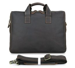Discount male laptop bags - 2018 Man Briefcase Genuine Leather Male Messenger Bags For Laptop Men's Crossbody Bags Travel Large Business Should