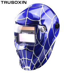 Weld Mask Darkening Canada - Solar Auto Darkening Welding Helmet Welding Mask Welder Goggles Eye Mask Shading Goggles for TIG MMA MIG Welding Machine Welder