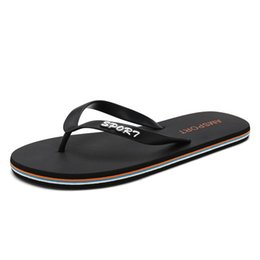55d10ab9949b45 Men s flip-flop men s summer non-slip sandals and slippers personalized  Korean version of the trend of the foot outdoor beach shoes men s le