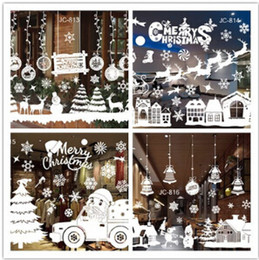 discount christmas decorations for glass windows christmas static sticker snowflake removable christmas glass window sticker