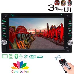car double din touch screen NZ - Double 2DIN Car Stereo DVD Player 6.2'' Multi-Touch Screen Bluetooth FM AM Autoradio Car dvd Audio 1080P CD Player Aux Remote Control