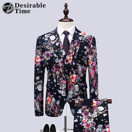 China Men Fashion Prom Suit for Wedding Groom Tuxedos Mens Flower Stage Wear Suits Plus Size 5XL 6XL Chinese Style Suit Men DT533 supplier flowers men wear weddings suppliers