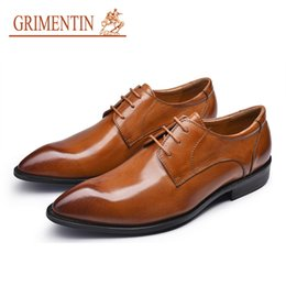 $enCountryForm.capitalKeyWord NZ - GRIMENTIN Hot Sale Formal Mens Dress Shoes Italian Fashion Man Oxford Shoes Genuine Leather Pointed Toe Office Business Wedding Male Shoes