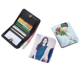 $enCountryForm.capitalKeyWord UK - Girls Coin Purse Short Mini Bag Student Small Fresh Cute Folding Wallet Print Photo Multi-function Mini Wallet
