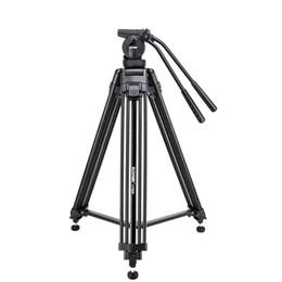 professional camcorder tripods UK - wholesale VT666 Tripode Professional Heavy Duty Stable Tripod Stativ With 360 Degree Panoramic Fluid Head For Camera DV Camcorder
