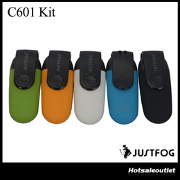 $enCountryForm.capitalKeyWord NZ - Original Justfog C601 Kit with Dust-proof Cap 650mAh Built-in Battery Portable System Kit DHL Free 100% Authentic