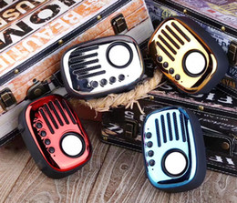 Subwoofer Player Australia - Classic Retro Radio Speakers Mini Portable Wireless Multimedia Bluetooth Speaker FM U disk TF Handsfree Outdoor Subwoofer MP3 Player A4