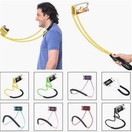 Tablet Lazy Stents Australia - Flexible Lazy Bracket Necklace Mobile Phone Holders Neck Hanging Tablet Stand Stents Holder For iPhone x 8 7 plus Samsung s8 ipad