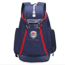 ShoeS uSa free Shipping online shopping - Student Bag Schoolbags New Olympic USA Team Packs Backpack Man Bags Large Capacity Waterproof Training Travel Bags Shoes Bags