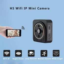 Digital Micro Hd Camera NZ - H5 Mini Camera Wifi IP 720P HD Body Camera Wireless Night Vision Micro Digital Video Camcorder Motion Sensor