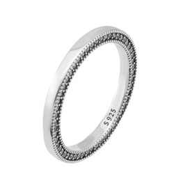 pandora rings sterling NZ - Original 100% 925 Sterling Silver Ring For Women Signature Hearts of Ring Silver Girl Finger anel Girl Gift fit Pandora Jewelry