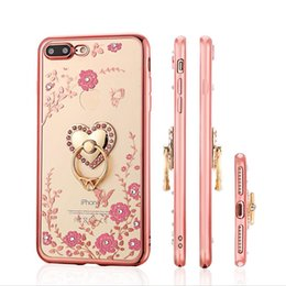 $enCountryForm.capitalKeyWord UK - Secret Garden Women Luxury Bling Diamond Electroplate Frame Soft TPU Case Ring Holder KickStand For Iphone X 8 7 6 PLUS