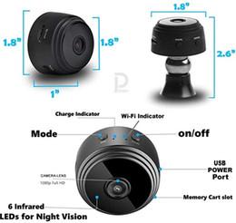 Опт Мини Wi-Fi Камера, безопасность 1080P Портативные камеры Беспроводная домашняя безопасность Маленькая камера / няня Cam Обнаружение движения / Ночное видение