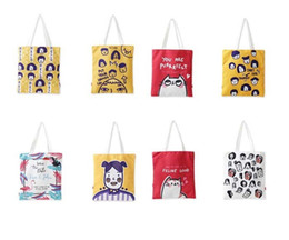 Cute Canvas Handbags Australia - Outdoor Women Student Canvas Tote Bag - Fashion Cute Graffiti Shoulder Tote Handbag Eco Shopping Canvas Purse Pouch Daily Use Foldable