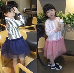 $enCountryForm.capitalKeyWord Australia - Sweet Girls Sweater Tutu Dresses Fall 2018 Kids Boutique Clothing Hot Sale 1-5T Little Girls Long Sleeves Knitting Stripe Gauze Dresses