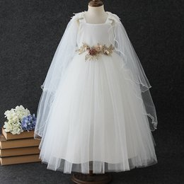 3741b607fe 11 Year Girl Dresses Australia - Shawl Yarn Girls Dress Flower Girl Wedding  Show Party Dresses