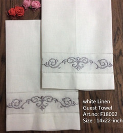 """$enCountryForm.capitalKeyWord NZ - Set of 12 Home Textile Guest Towel White linen Vintage Handkerchiefs Towel with Color Embroidered Floral Hand Towels 14x22""""-inch"""