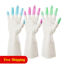 $enCountryForm.capitalKeyWord NZ - Plastic Waterproof Rubber Gloves Domestic Latex Dishwashing Clothes Leather Gloves Thickened Durable Cleaning Glove