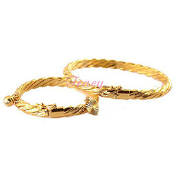 Chinese  6mm Women Mother Babies Kids Gold Filled Color Wire Bangles Bracelets Openable Wristband Rope Jewelry manufacturers