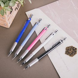 High Quality Pencils Australia - High Quality Automatic Pencil 0.5 0.7mm Metal Mechanical Automatic Pencil Drafting Metal for professional Drawing Comic