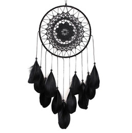 eco fiber UK - Handmade Lace Dream Catcher Circular With Feathers Hanging Decoration Ornament Craft Gift Crocheted White Dreamcatcher Wind Chimes GA122