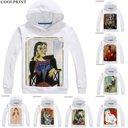 $enCountryForm.capitalKeyWord NZ - Pablo Picasso Hoodies Hooded Anime Hoodie Oil Painting The Mackerel A Rooster Dove of Peace The Absinthe Drinker Cosplay Sweatshirts