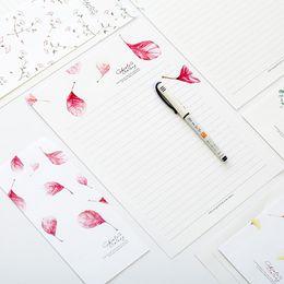 letter writing stationery canada 1 pack fresh season leaves letter envelope 6 sheets letter paper