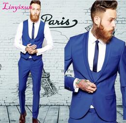 7398d57fcf1e Linyixun Custom Made Groom Tuxedos Business Suits Classic Black Cheap blue  Blazer Men Prom Mens Tux Bridegroom