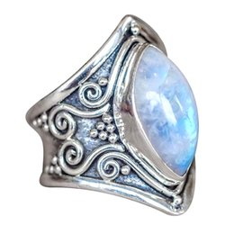 China Female Charms Jewelry Cocktail Rings for women Statement Moon Stone Crystal Accessories All-match Party Gift Accessories 7C1182 cheap statement rings suppliers