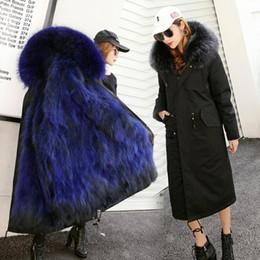 Women Raccoon Fur Parka NZ - Long raccoon fur coat winter Parka women real raccoon fur overcoat outwear windbreaker thicking warm new arrival M L XL XXL