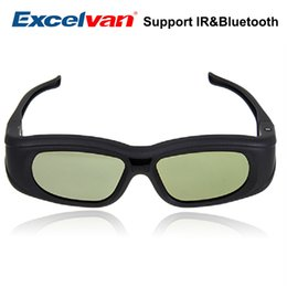 sharp tvs 2019 - Excelvan IR Bluetooth Active Rechargeable Shutter 3D Glasses For  Sony Sharp Samsung LG Toshiba 3D TV 3D Blue Ray cheap