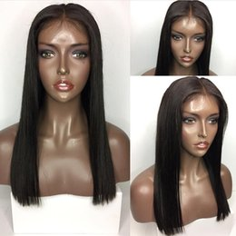 Silk Base Baby Hair Australia - 5*4.5'' Silk Top Glueless Full Lace Human Hair Wigs Brazilian Virgin Hair Silk Base Lace Front Wigs With Baby Hair Natural Hairline