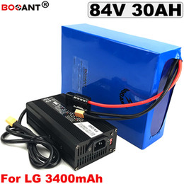 Motor Bicycles Australia - Rechargeable E-bike Lithium Battery 84V 30AH for original LG 18650 84V Electric Bicycle Battery for Bafang 2000W 3000W Motor