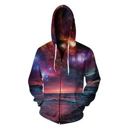 eaac8baff2f4 Romantic Scenery 3D Hoodie Sweatshirt Galaxy Print Beautiful Hoodies Tops  Men Hip Hop Casual Zipper Tracksuit Couple Tracksuits