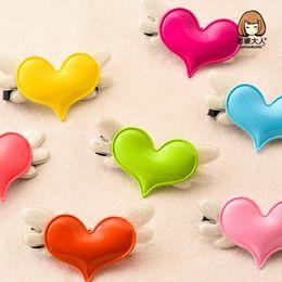$enCountryForm.capitalKeyWord Australia - Cartoon wings, heart-shaped hair clips, exquisite Ma Caron hairpin.