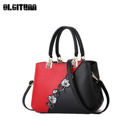 satchel messenger 2018 - Women's New Handbags 2018 Digonal Patchwork Ladies Shoulder Bag New Design Messenger Bag with Flower for Female HB1