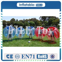 body bumpers inflatable UK - Free Shipping 0.8mm PVC 1.5m Bumper Ball Giant Human Body Soccer Inflatable Bubble Ball Suit For Football Sport