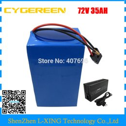 72v charger Australia - High capacity 72V Ebike battery 3500W 72V 35AH Lithium battery 3.7V 5AH 26650 Cell 50A BMS with 4A Charger Free customs tax