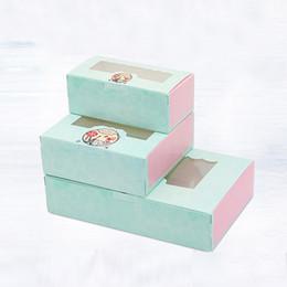 Cakes for kids bake online shopping - 20 Paper box windows wedding kids sweet birthday cake kraft gift paper packaging box for baking candy cookies supplier