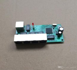 Mini 4 portas gigabit placa de switch 1 uplink backside 5 10 100 1000 mbps rj45 led dentro do módulo ethernet interruptor DC 5-15 v tensão venda por atacado