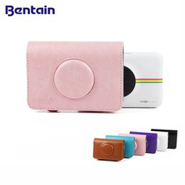 Discount bag for polaroid camera - Vintage Colorful PU Leather Camera Bag Case Cover for Polaroid Snap Touch for Polaroid Snap Cameras Case