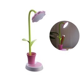 Art decor lAmp online shopping - Kids Home Decor Lamp Cute Desk Lamp Touch Control Dimming Light Flexible USB Rechargeable Desk Children Studying