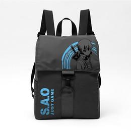 Sword art coSplay online shopping - Anime SAO Sword Art Online Just Game Rucksack Backpack Student Schoolbag Bag Girl Travel Flip Laptop Cosplay Bag Waterproof