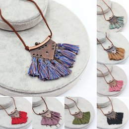 jewelry elements NZ - Women's Necklace Long Necklaces Personality Bohemian Vintge Tassel Elements Beaded Fashion Beads Collar Necklaces Jewelry For Women G962R